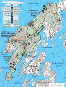 Porkkalanniemen kartta - Uudenmaan virkistysalueyhdistys