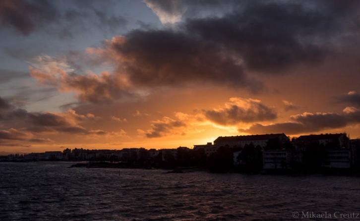 Lauttasaari auringonlaskussa