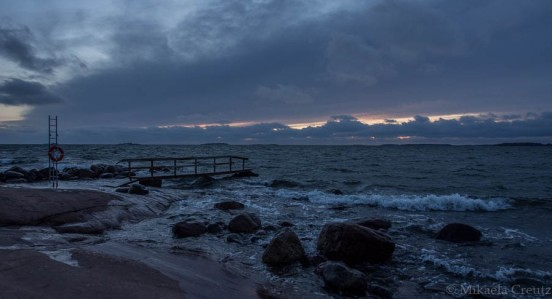Näkymä Lauttasaaren eteläkärjestä, Särkiniemen puistosta avomerelle