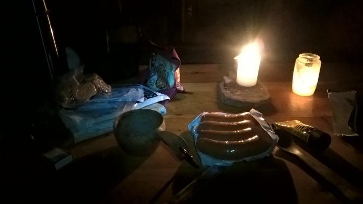 Maistuva iltapala tuvan lämmössä. :D