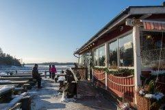 Idyllinen kahvila Kampela Vuosaaren Aurinkolahdessa
